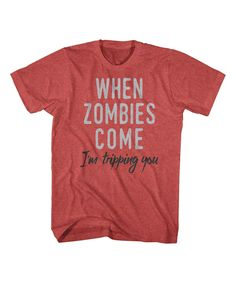 Loving this Red Heather 'I'm Tripping You' Tee - Men's Regular on #zulily! #zulilyfinds