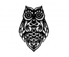 Tribal owl big eyes tattoo wallpaper