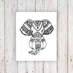 Elephant temporary tattoo Mandala Tattoo Design, Mandala Arm Tattoo, Tattoo Designs, Trendy Tattoos, Cute Tattoos, Gorgeous Tattoos, Flower Tattoos, Elephant Head Tattoo, Elefante Tattoo