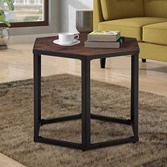 vintage industrial simmons metal side table. End Table Hexagon Modern Leisure Wood Coffee With Metal Legs For Living Room Balcony And Vintage Industrial Simmons Side F