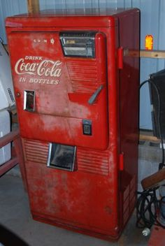 old coke machines for sale cheap any vintage coke machine collectors here the garage. Black Bedroom Furniture Sets. Home Design Ideas