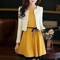 Women's New Fashion Elegant Cute Candy Color Slim Suits (Blazer&Mini Skirt) – USD $ 38.99