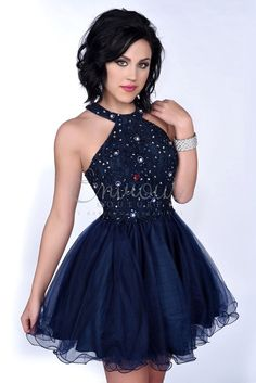 Envious Couture 16343 Navy Homecoming Dress