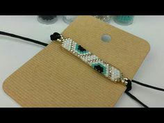 PULSERA DELICAS/ MIYUKI - YouTube Beaded Bracelets Tutorial, Bead Loom Bracelets, Bracelet Crafts, Seed Bead Tutorials, Beading Tutorials, Beading Patterns, Bead Jewellery, Macrame Jewelry, Girls Jewelry