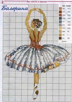 Cross-Stitching Chart: Sweet ballerina design.