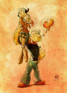 Popeye and Olive Oyl for a Charitable Organization by marvelmania on DeviantArt