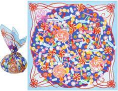 【楽天市場】綿小風呂敷 misato asayama/浅山美里 ショートケーキ パッケージキャンディー フルーツタルト:北陸のきもの問屋 越前屋