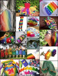 Rainbow Wedding Inspiration Board
