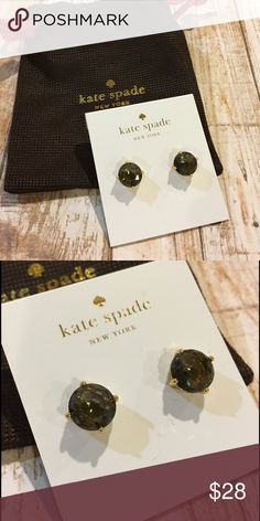 ☀SALE☀️Kate Spade Black Crystal Studs Brand New with tags Kate Spade Black Crystal Studs. NO TRADES. Reasonable offers considered through offer button only kate spade Jewelry Earrings