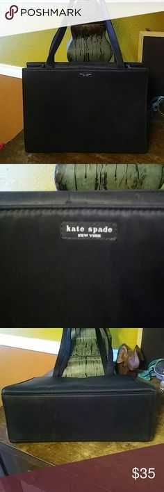 """Vintage Kate Spade Nylon Tote Vintage bag a little dirty but in excellent condition. Strap drop is 11"""". 13.5x10x5.5 #Sam kate spade Bags Totes"""