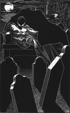 "Abigail Rorer and the Lone Oak Press. ""Dracula Illustration II."""