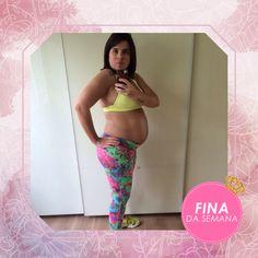 A eleita fina dessa semana é uma grávida fitness. Com toda elegância, Aidiane Bertassom arrasou de Serafina e barrigão! ♥
