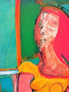 """Viridian via pure artist's pigment, in Willem de Kooning's painting """"Queen of Hearts"""" #ArtisticColor"""