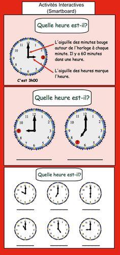 Quelle heure est-il? Activités Interactives (Smartboard) $