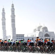 Tour of Oman cycling race, a stage of 179.5 kms between German University of Technology and Wadi Dayqah Dam - Photo by Vincent Kalut @vkalut / Photo News