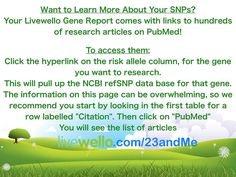 How to learn more about your SNPs in your 23andMe results