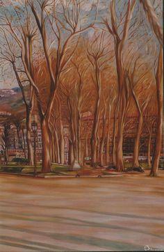 Paseo del arenal (Bilbao) de Sixto Aguilera Ortiz.