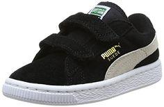 Puma Suede 2 straps Inf, Unisex-Kinder Sneakers, Schwarz (black-white 01), 21 EU (4.5 Kinder UK) - http://on-line-kaufen.de/puma/21-eu-puma-classic-suede-2-straps-kids-unisex-3