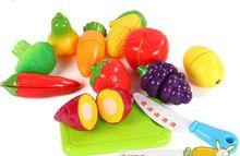 Enfants maison de jeu jouet jouets coupe de fruits, Bébé la capacité d'observation de formation, Jeu de rôle ( 12 pièces/set )(China (Mainland))