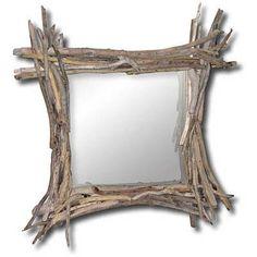 Specchio in legno di mare by Tendance Nature su #misshobby