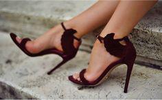 marsala wedding shoes