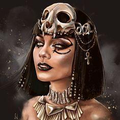 Egypt Tattoo Design, Greece Drawing, Egypt Makeup, Egypt Culture, Girl Face Drawing, Mythology Tattoos, Fantasy Inspiration, Character Inspiration, Fantasy Art Women