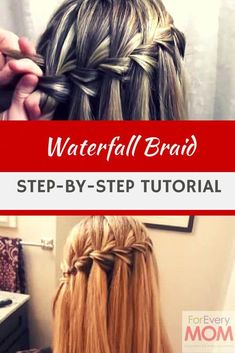 Up Your Hairstyle With This Cute Waterfall Braid Tutorial Waterfall braids tutorial - easy how-to and it's the prettiest of all the braided hairstyles!Waterfall braids tutorial - easy how-to and it's the prettiest of all the braided hairstyles! Box Braids Hairstyles, Braided Hairstyles Tutorials, Pretty Hairstyles, Braid Tutorials, Hairstyles Videos, Hairstyles 2016, Hairdos, Waterfall Braid Tutorial, Braids Tutorial Easy