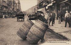 Les petits métiers du Paris d'antan Un marchand de tonneaux (vieille carte postale, vers 1900)