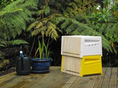 The Urban Beehive is designed to make the beekeeping process a little easier for novices.
