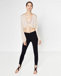 Image 1 of CROPPED TIE-UP JACKET from Zara