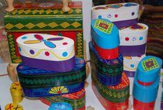 Cajitas hechas especialmente para poner dulces típicos de Guatemala.