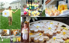 Lazy Daisy Party - yellow & white & flowers