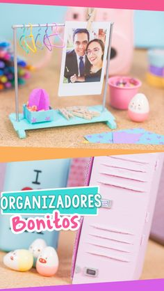 Mini organizadores de Casillero/Taquilla/Locker y Perchero/Rack   DIY mini desk organizer ideas