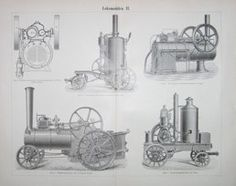 "locmobiles II german 1894 lithograph 9 x 12"" $25"