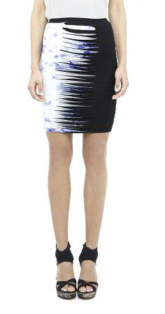 Nicole Miller Splash Dyed Striped Skirt on shopstyle.com