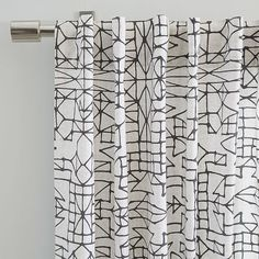 Cotton Canvas Sketched Drawing Curtains (Set of 2) - Slate | west elm