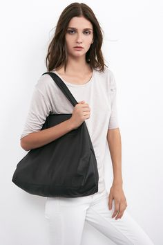 $297.00 CLOVER LEATHER TOTE IN BLACK