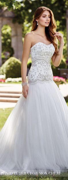 Wedding Dress by David Tutera for Mon Cheri 2017