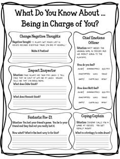CBT Game: I'm in Charge of Me! A cognitive behavioral therapy (CBT) game designed to teach elementary students to identify triggers, negative thoughts, helpful coping skills, and the impact of their behavior.