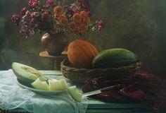 Still life Wiht Melons by UstinaGreen