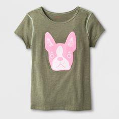 c1fa0353e Girls' Adaptive Short Sleeve Dog Graphic T-Shirt - Cat & Jack Olive S, Green