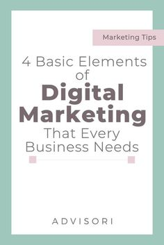 Here are the basic elements of #DigitalMarketing you need to know. Digital Marketing Quotes, Social Media Marketing Business, Marketing Flyers, Digital Marketing Strategy, Marketing Tools, Internet Marketing, Marketing Strategies, Marketing Ideas, Business Names