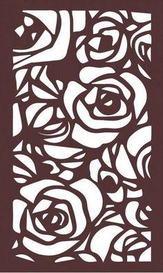Roses - Artisan Panels, Inc Laser Cut Patterns, Stencil Patterns, Stencil Designs, Stencil Templates, Stencils, Stencil Art, Kirigami, Gravure Laser, Cnc Cutting Design