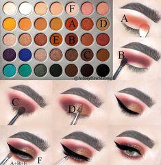 Morphe x Jaclyn Hill Palette Eye Makeup Steps, Makeup Eye Looks, Eye Makeup Art, Fall Makeup, Smokey Eye Makeup, Men Makeup, Edgy Makeup, Star Makeup, Dramatic Makeup