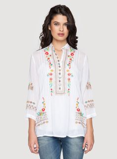 Katrina Tunic White ordered.... love the colors and the design and the fabric... fun!!!
