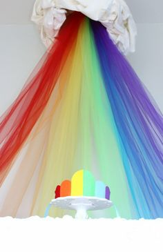 Make it a headboard. I would maybe do room colors instead of a rainbow, but I still love it!