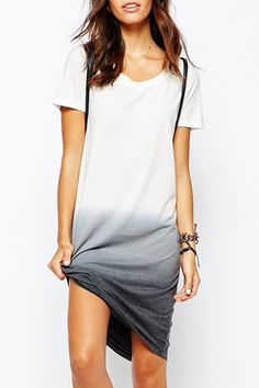 Ombre Color Casual #Minimal This looks so comfortable and could pair with several different things