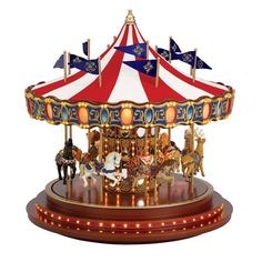 mr christmas animated double decker musical carousel. Black Bedroom Furniture Sets. Home Design Ideas