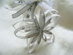 felt snowflakes   Christmas Ornament, Snowflake Ornament, Tree Ornament, Tree Decoration ...