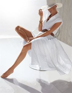 white summer look White Dress Summer, Summer Dresses, Belted Dress, Dress Up, Short Outfits, Casual Outfits, Looks Style, My Style, Classic Style